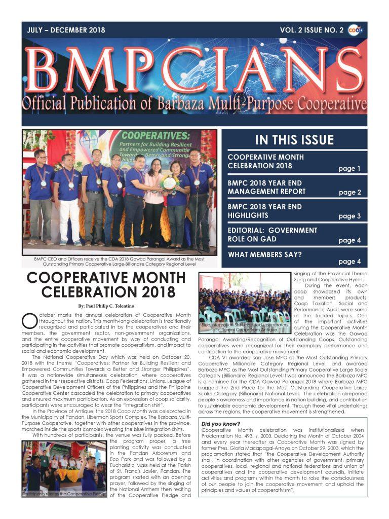 BMPCIANS VOL. 2 ISSUE NO. 2
